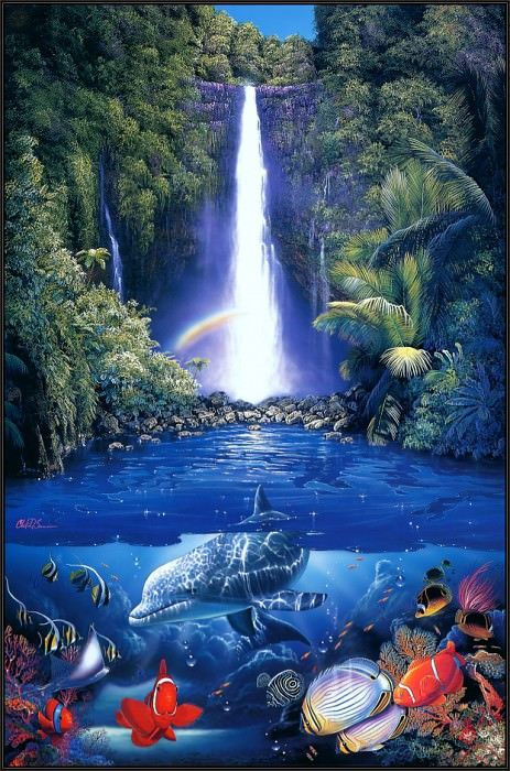 Kahana Falls. Christian Riese Lassen