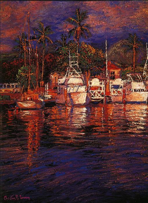 Цвета Мауи, левая панель. Кристиан Риес Лассен