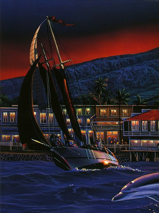 Lahaina Visions Triptych-Ldetail. Christian Riese Lassen