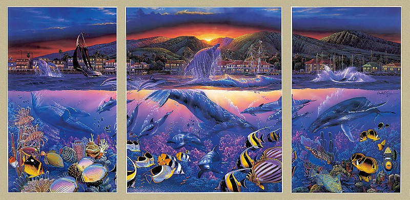 p-Christian Lassen Lahaina Visions TriptychXL. Кристиан Риес Лассен
