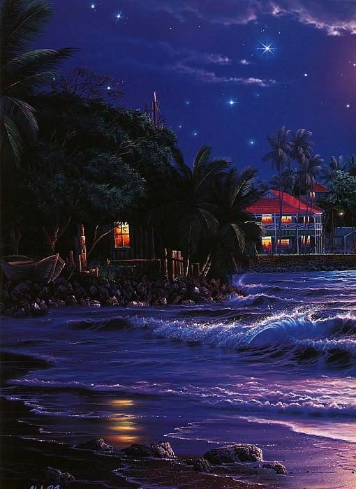 Свет звезд над Лахайной, левая панель. Кристиан Риес Лассен