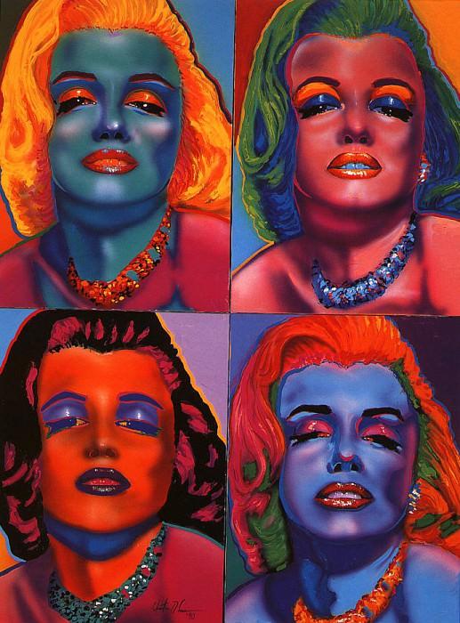 Four Marilyns. Christian Riese Lassen