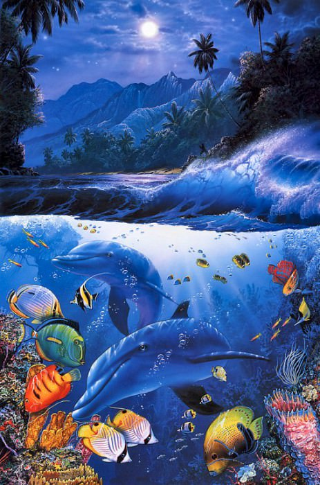 Beyond the Reef (left panel). Christian Riese Lassen