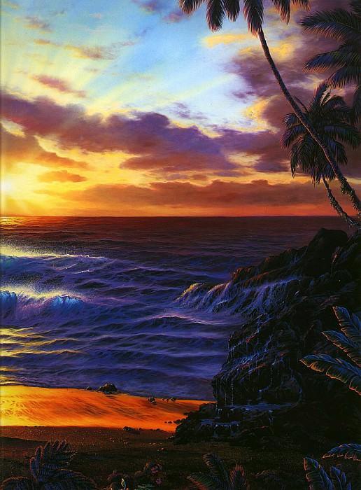 Рассвет на Мауи, правая панель. Кристиан Риес Лассен