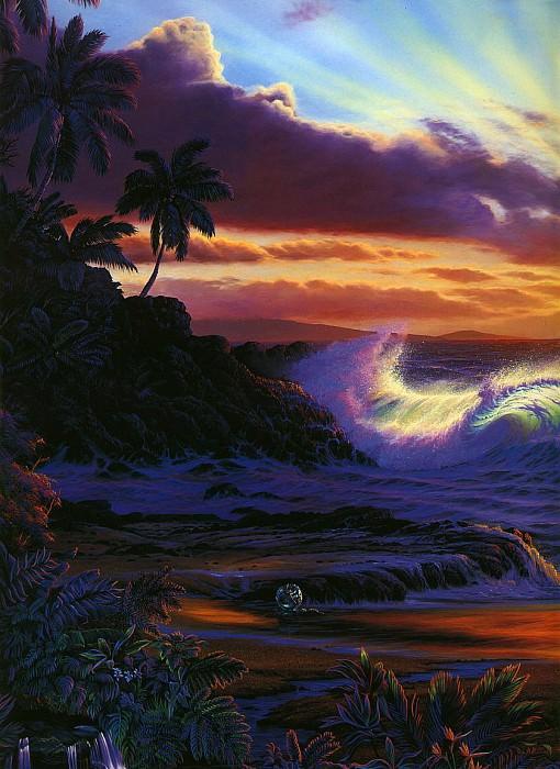 Рассвет на Мауи, левая панель. Кристиан Риес Лассен