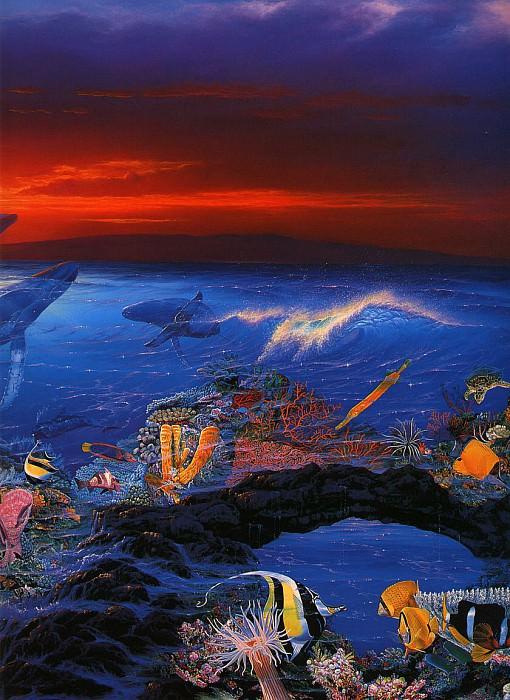 Вид моря - правая панель. Кристиан Риес Лассен
