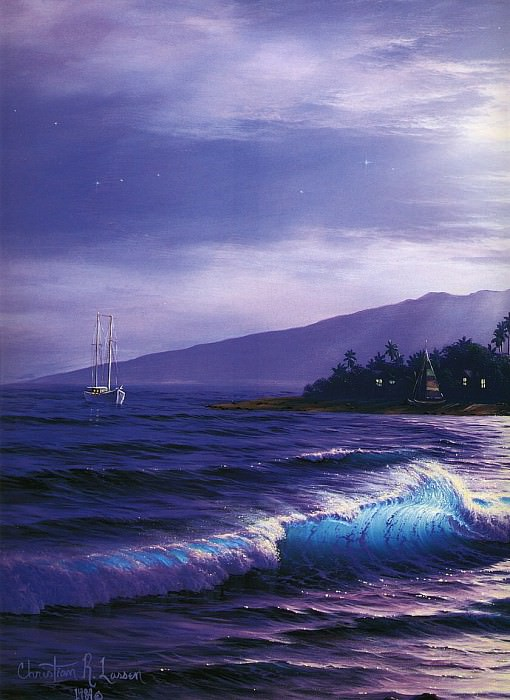 Peaceful Lahaina Eve. Christian Riese Lassen