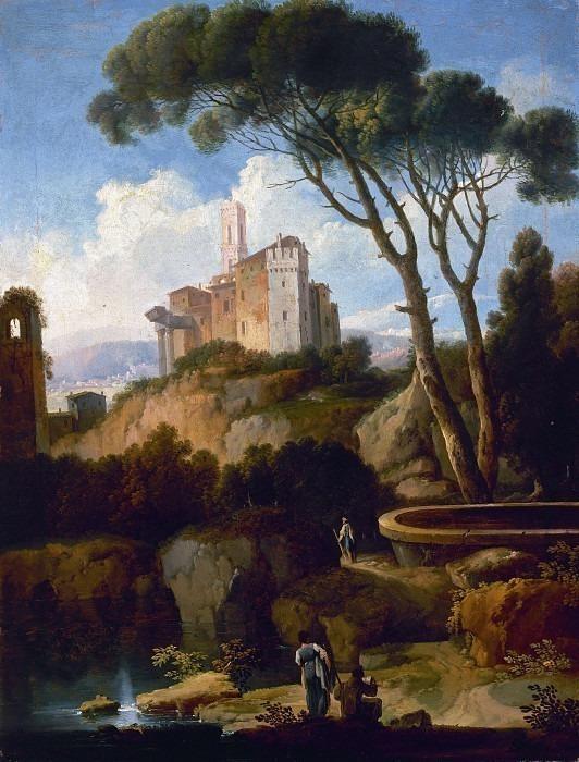 Загородный пейзаж с замком. Андреа Локателли
