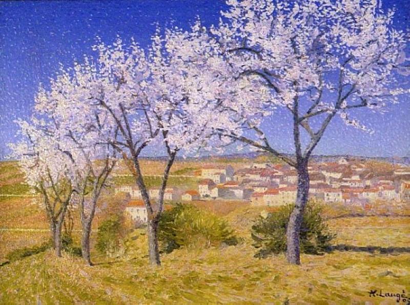 Flowering Almond Trees, Cailhau, 1909. Achille Laugé