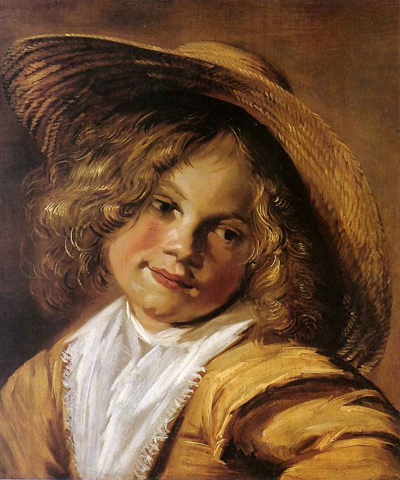 Girl with straw hat. Judith Leyster