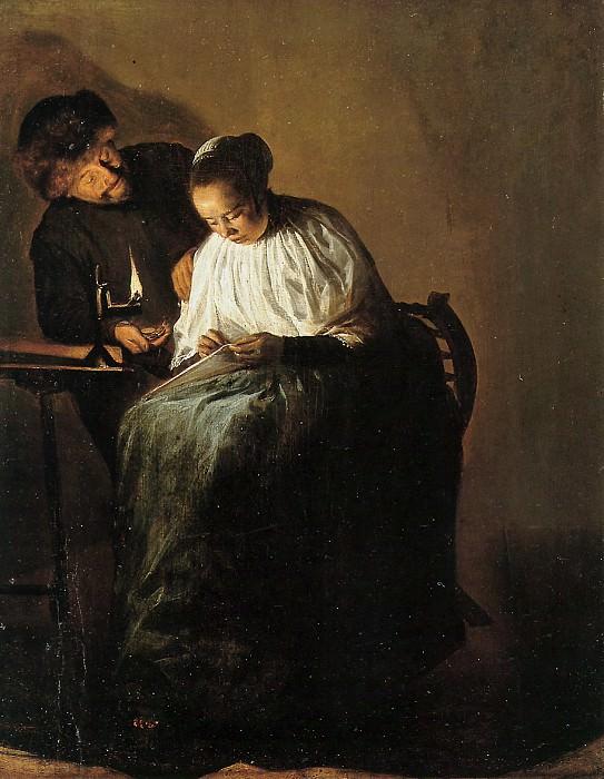 Man offering a woman money. Judith Leyster