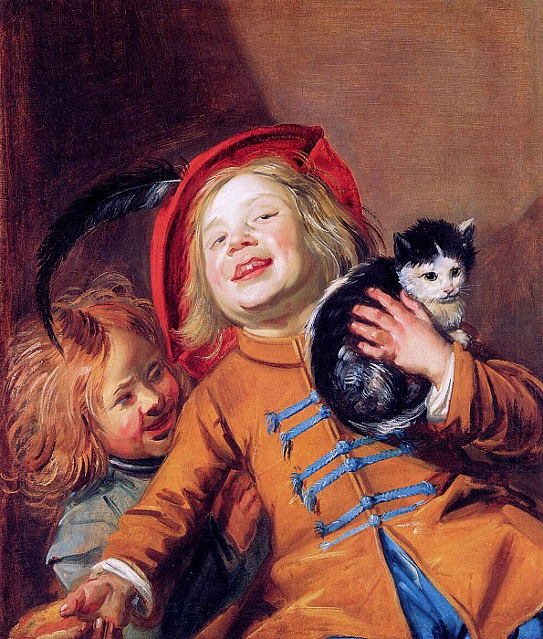 Two children with a cat. Judith Leyster