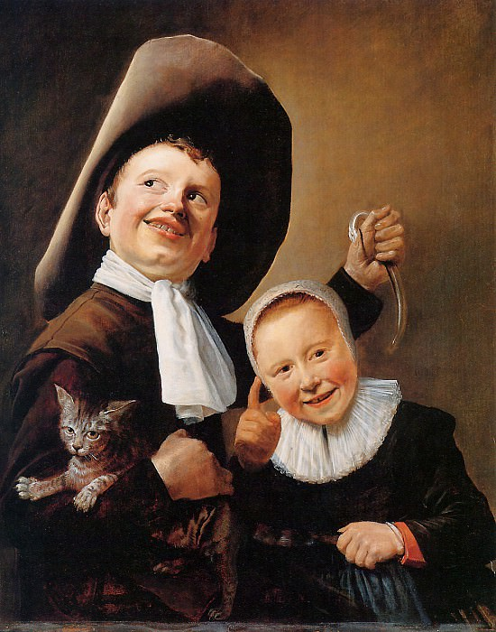 Leyster Judith Children with cat and eel Sun. Judith Leyster