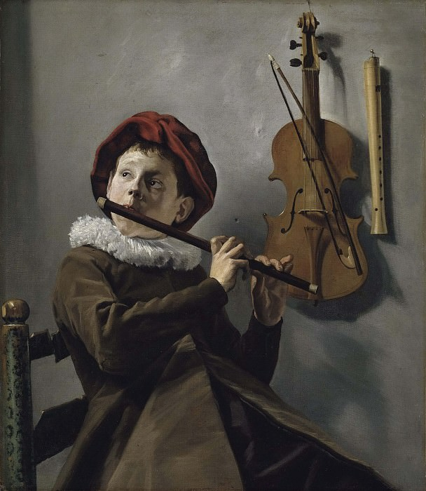 Boy playing the Flute. Judith Leyster
