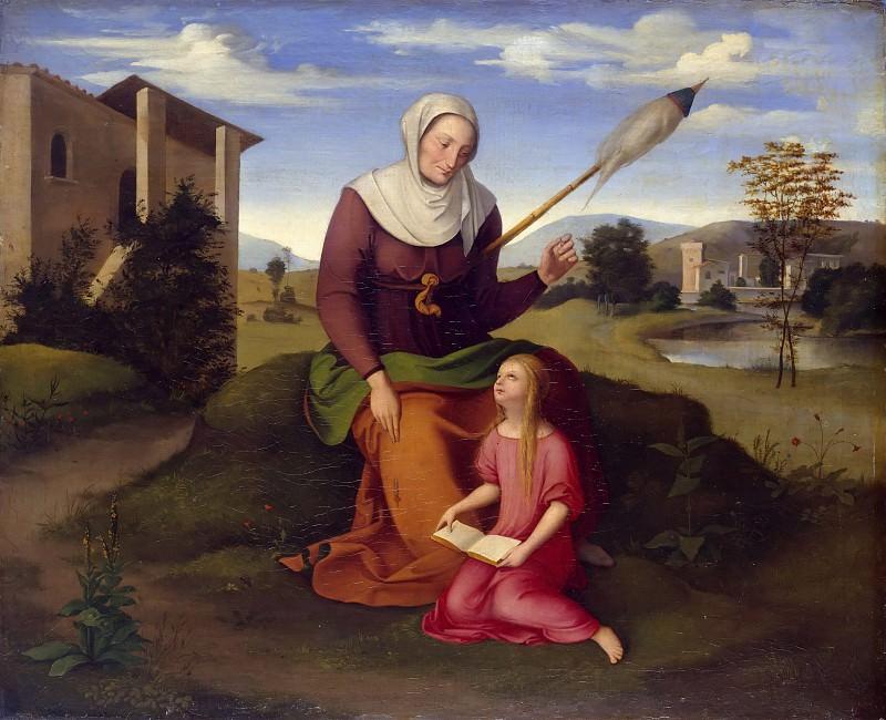 Saint Anne and Mary. Johann Scheffer von Leonhardshoff