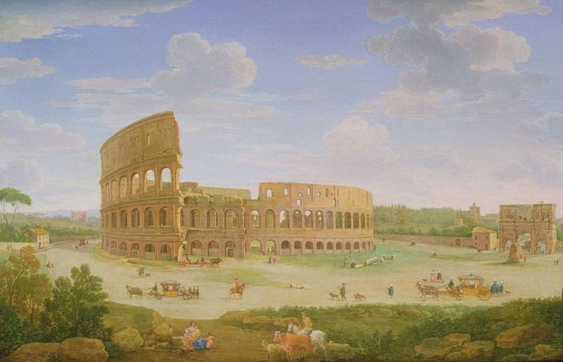 A View of Rome. Hendrik van Lint