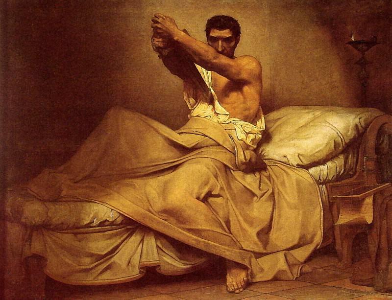 Смерть Катона из Утики. Жан-Поль Лоран
