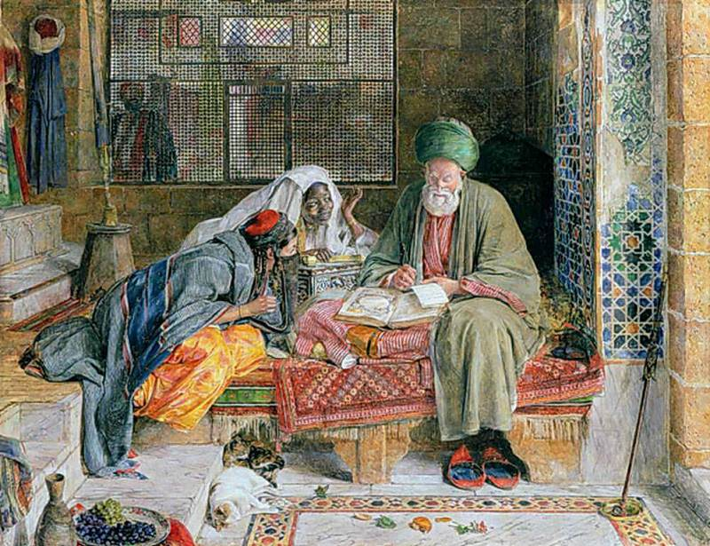 The Arab Scribe, Cairo. John Frederick Lewis