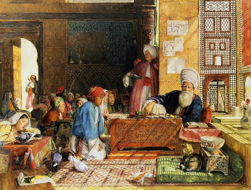 Интерьер школы в Каире. Джон Фредерик Льюис