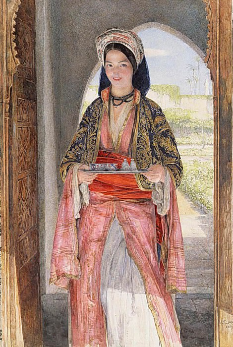 An Eastern Girl Carrying a Tray. John Frederick Lewis