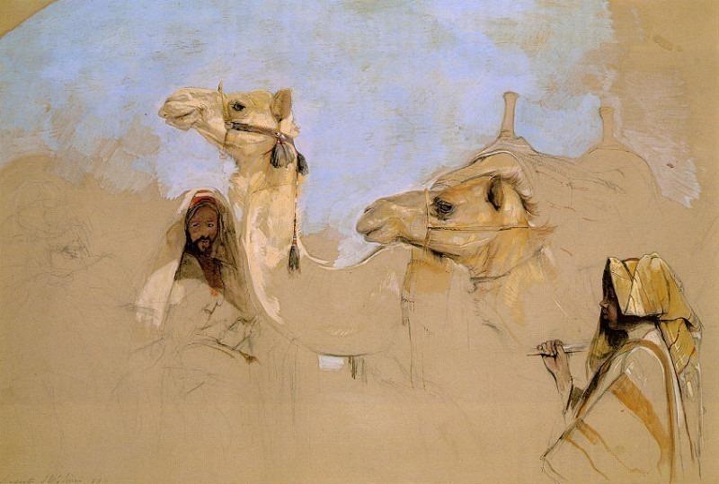 Пустыня у горы Синай. Джон Фредерик Льюис