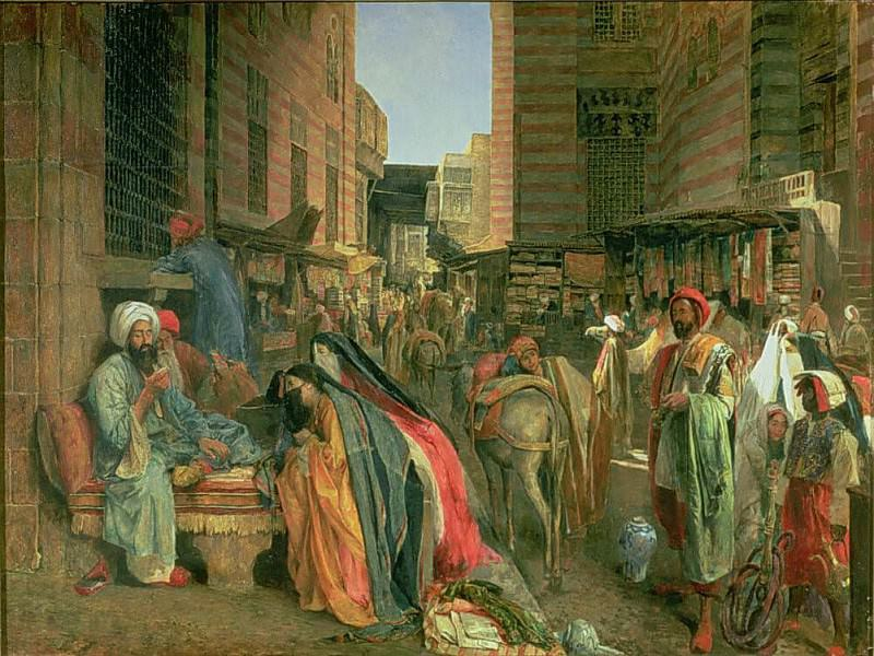The Street and Mosque of the Ghooreyah, Cairo. John Frederick Lewis