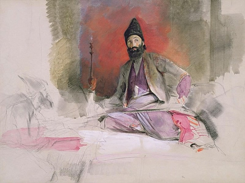 Study of a Turkish Magnate, possibly Hallicoo Mirza. John Frederick Lewis