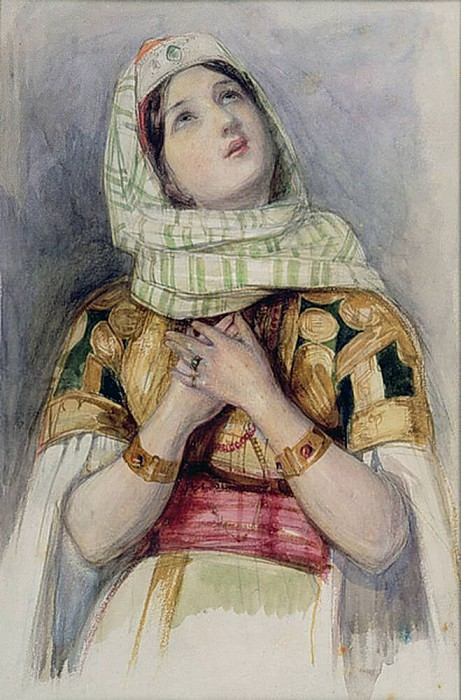 A Young Lady in Turkish Dress. John Frederick Lewis