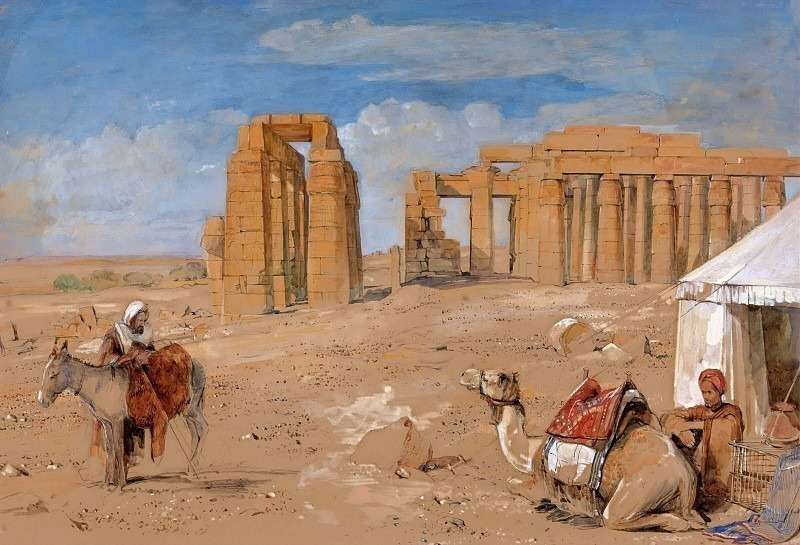 The Ramesseum at Thebes. John Frederick Lewis