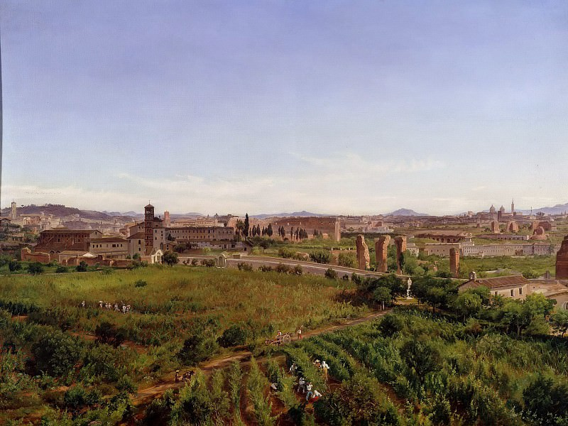 Panorama. View of St. Maria Maggiore and the Colosseum. Friedrich Loos