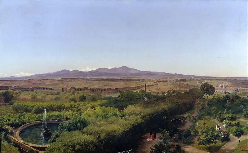 Вид на Альбанские холмы. Фридрих Лос