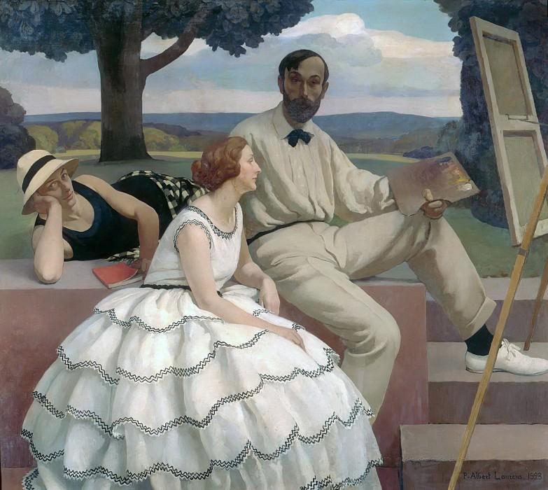 Семейный портрет (семья художника). Пол Альберт Лоренс