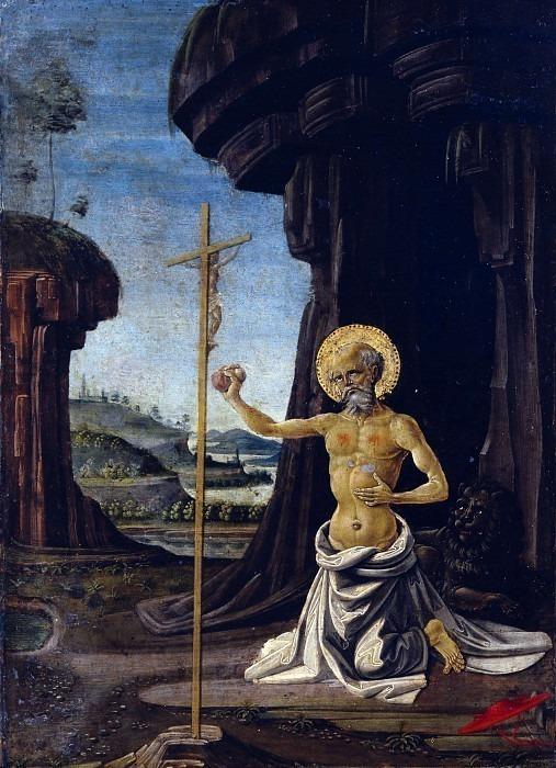 Кающийся святой Иероним. Фьоренцо ди Лоренцо