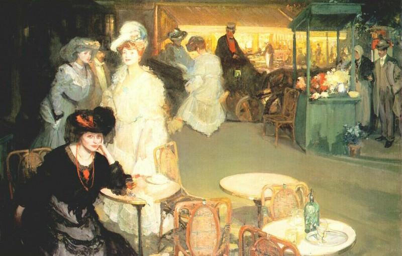 Час аперитива (ночное кафе), 1906. Ричард Эдвард Миллер