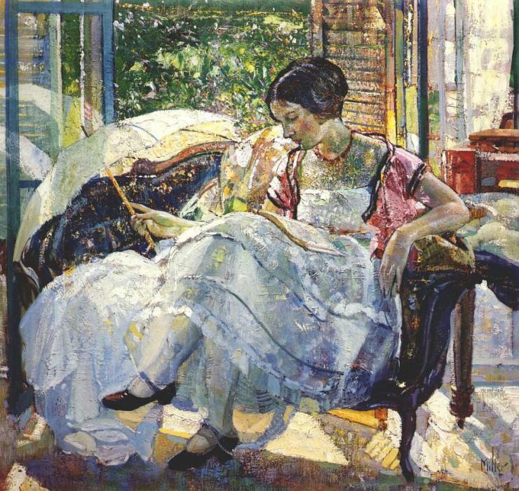 Читающая дама. Ричард Эдвард Миллер