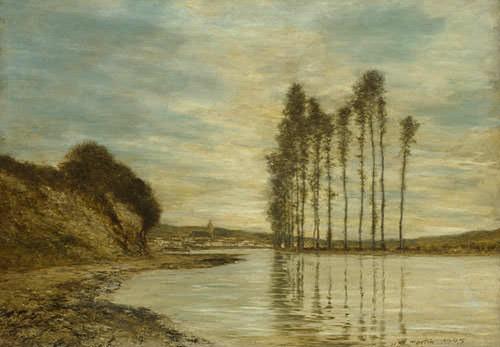 View On The Seine. Homer Dodge Martin