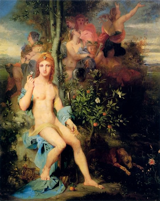 Apollo and the Nine Muses. Gustave Moreau