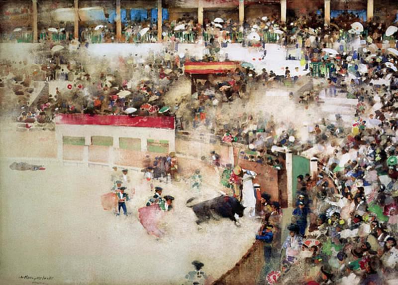 Бой быков в Браво Торо, Севилья. Артур Мелвилл