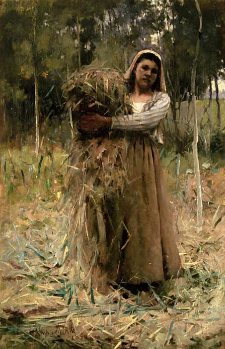 The Peasant Girl, The Faggot Collector. Arthur Melville