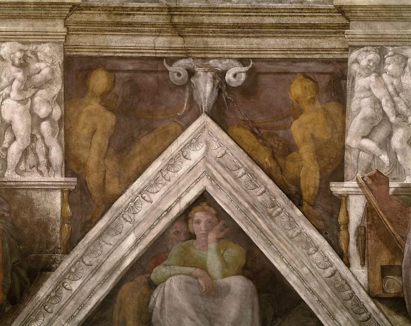 Jesse with his parents. Michelangelo Buonarroti