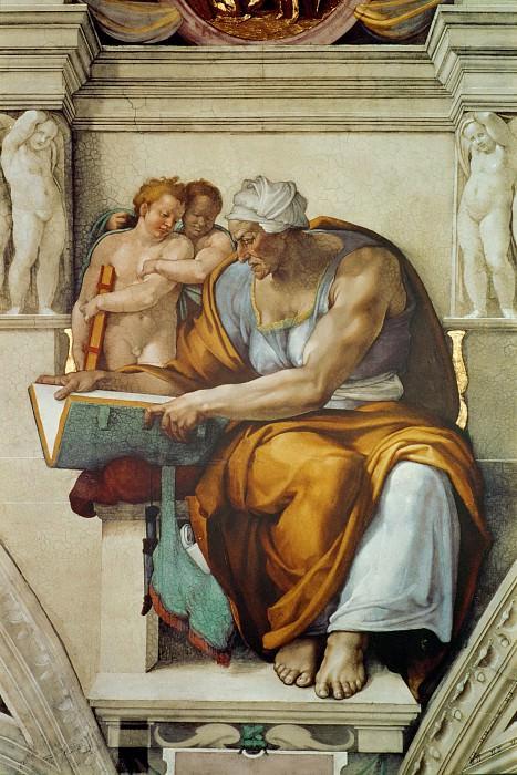 The Cumaean Sibyl. Michelangelo Buonarroti