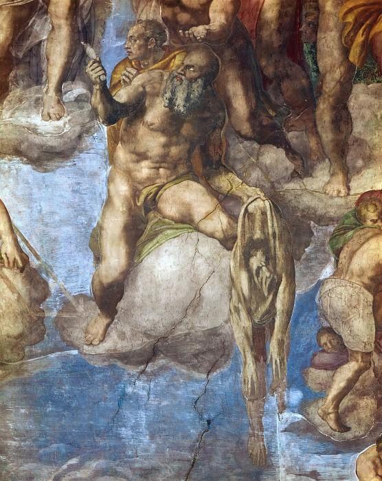 Last Judgement (fragment, before restoration 1990-94). Michelangelo Buonarroti