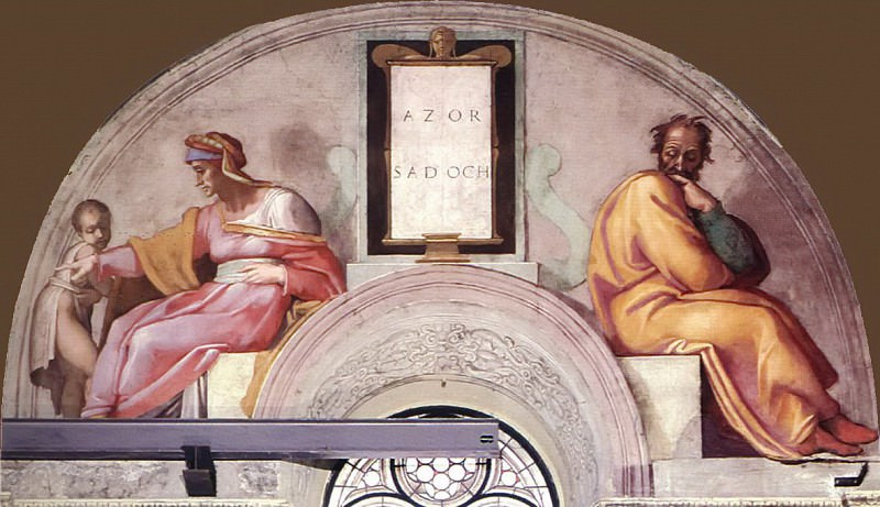 Azor - Zadok. Michelangelo Buonarroti
