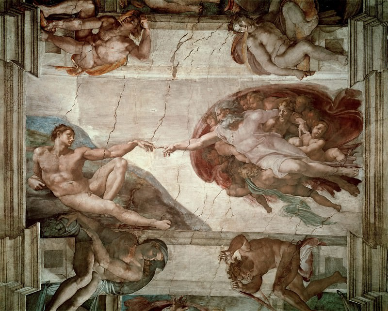 Creation of Adam. Michelangelo Buonarroti