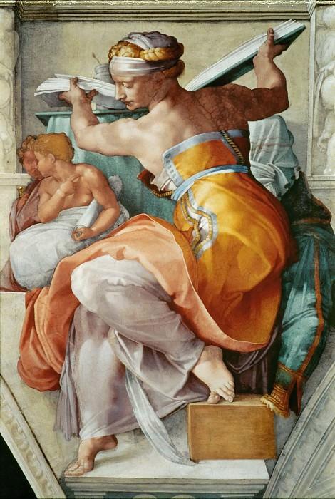 The Libyan Sibyl. Michelangelo Buonarroti