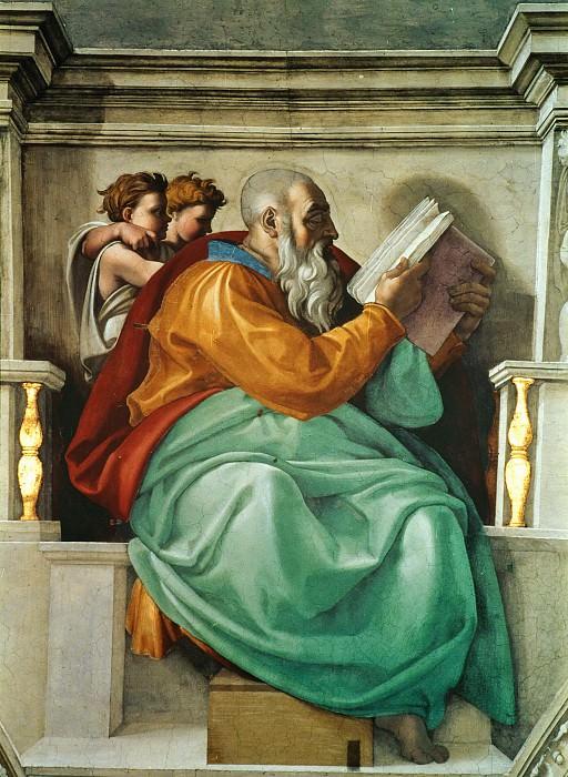 Zechariah. Michelangelo Buonarroti