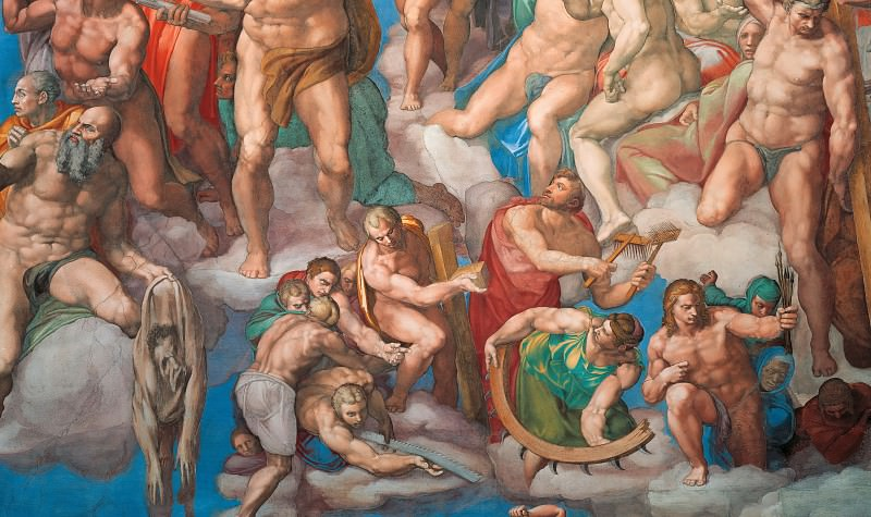 Last Judgement (fragment, after restoration 1990-94). Michelangelo Buonarroti