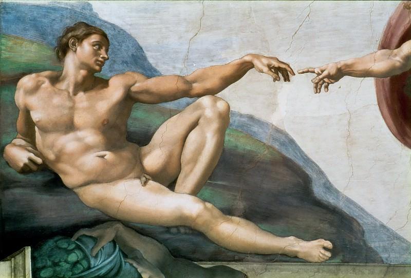 Creation of Adam (fragment). Michelangelo Buonarroti