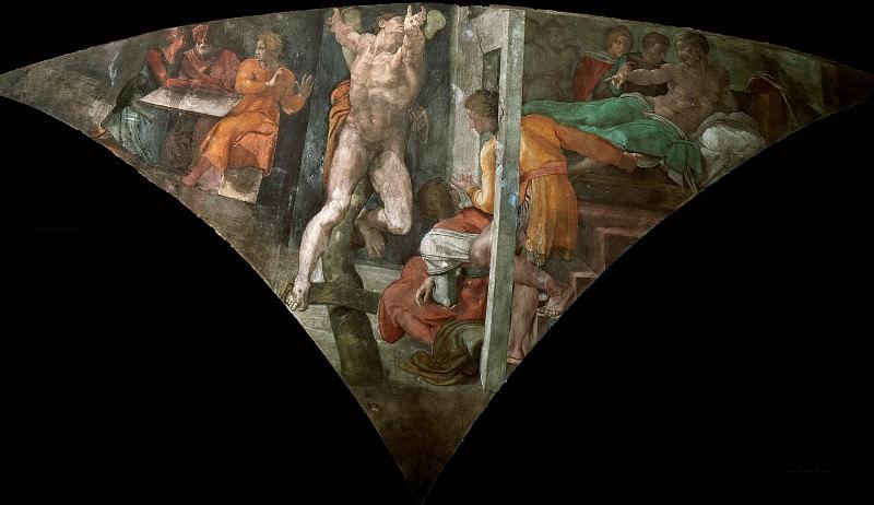 Punishment of Haman. Michelangelo Buonarroti