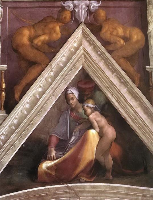 Salmon with his parents. Michelangelo Buonarroti